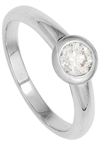 JOBO Solitärring, 585 Weißgold mit Diamant 0,10 ct. kaufen