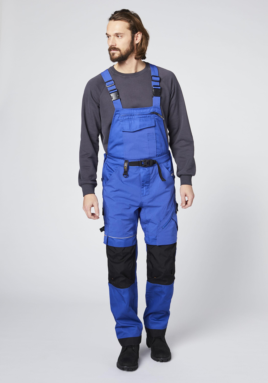 Expand Herren Latzhose für die Arbeit blau Latzhosen Arbeitshosen Arbeits- Berufsbekleidung Hosen lang