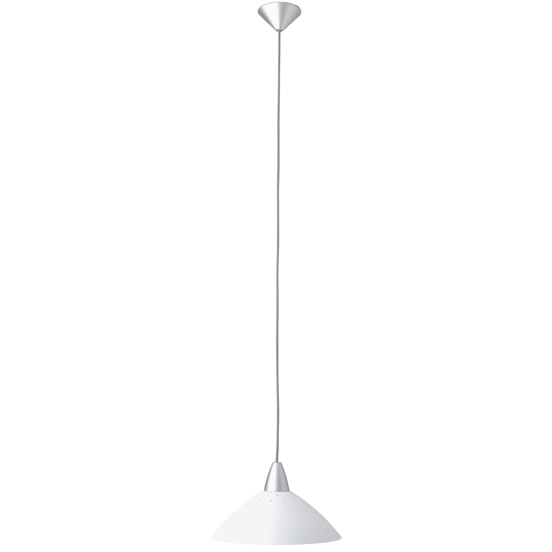 Brilliant Leuchten Logo Pendelleuchte 35cm weiß