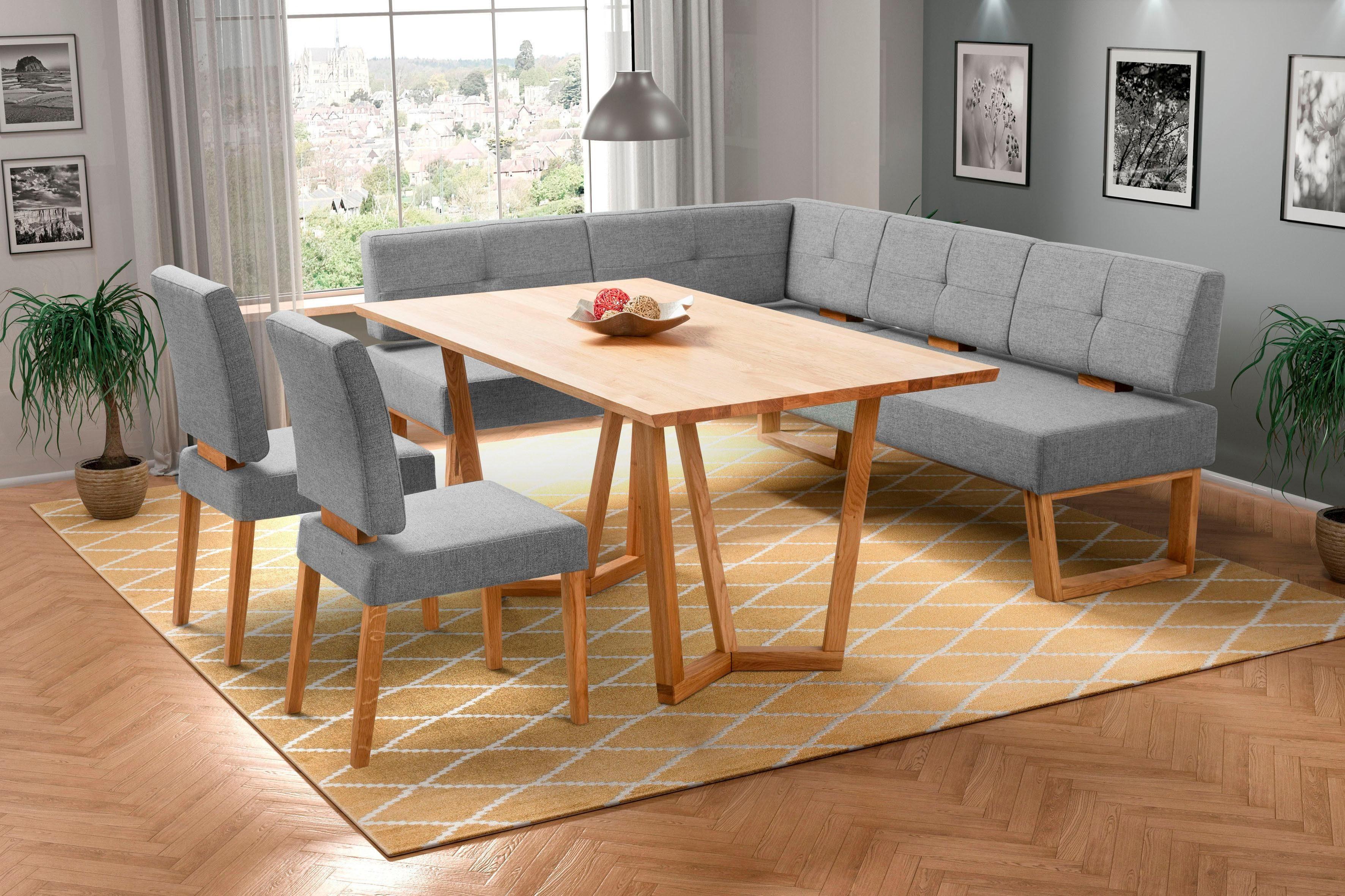 Eckbankgruppe Ponza (Set 4-tlg)   Küche und Esszimmer > Essgruppen > Eckbankgruppen   Grau   Holz