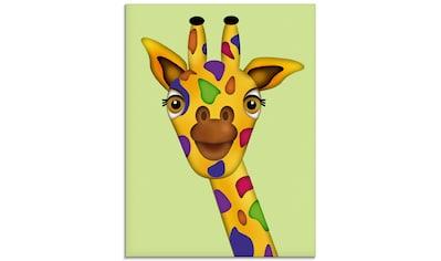 Artland Glasbild »Bunte Giraffe«, Wildtiere, (1 St.) kaufen