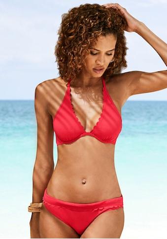 LASCANA Bügel-Bikini-Top »Scallop«, mit gelaserter Wellenkannte kaufen