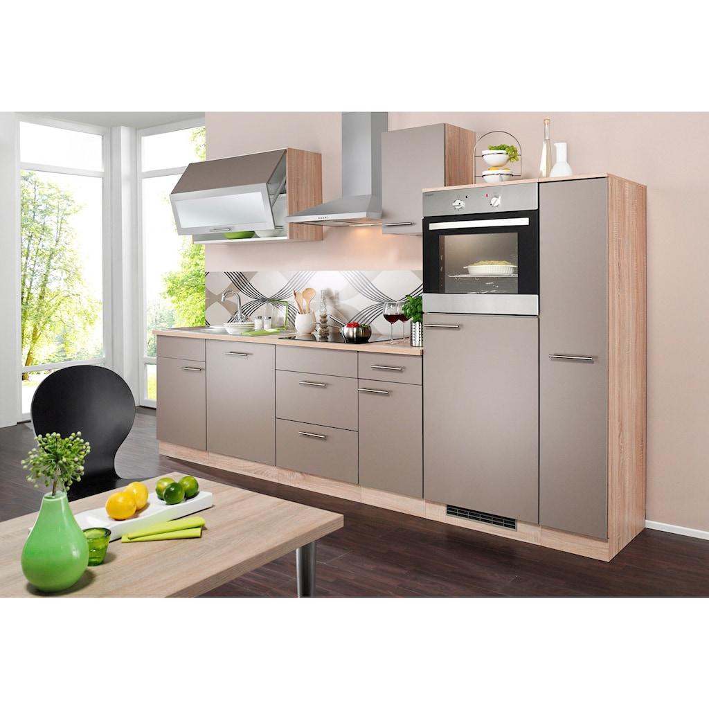 wiho Küchen Küchenzeile »Montana«, mit E-Geräten, Breite 300 cm