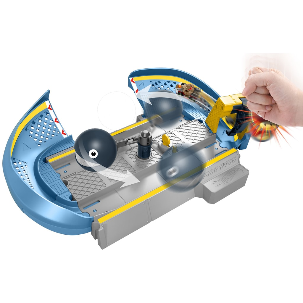 Hot Wheels Spiel-Gebäude »Mario Kart Kettenhunde Trackset«, inklusive Donkey Kong Die-Cast-Kart