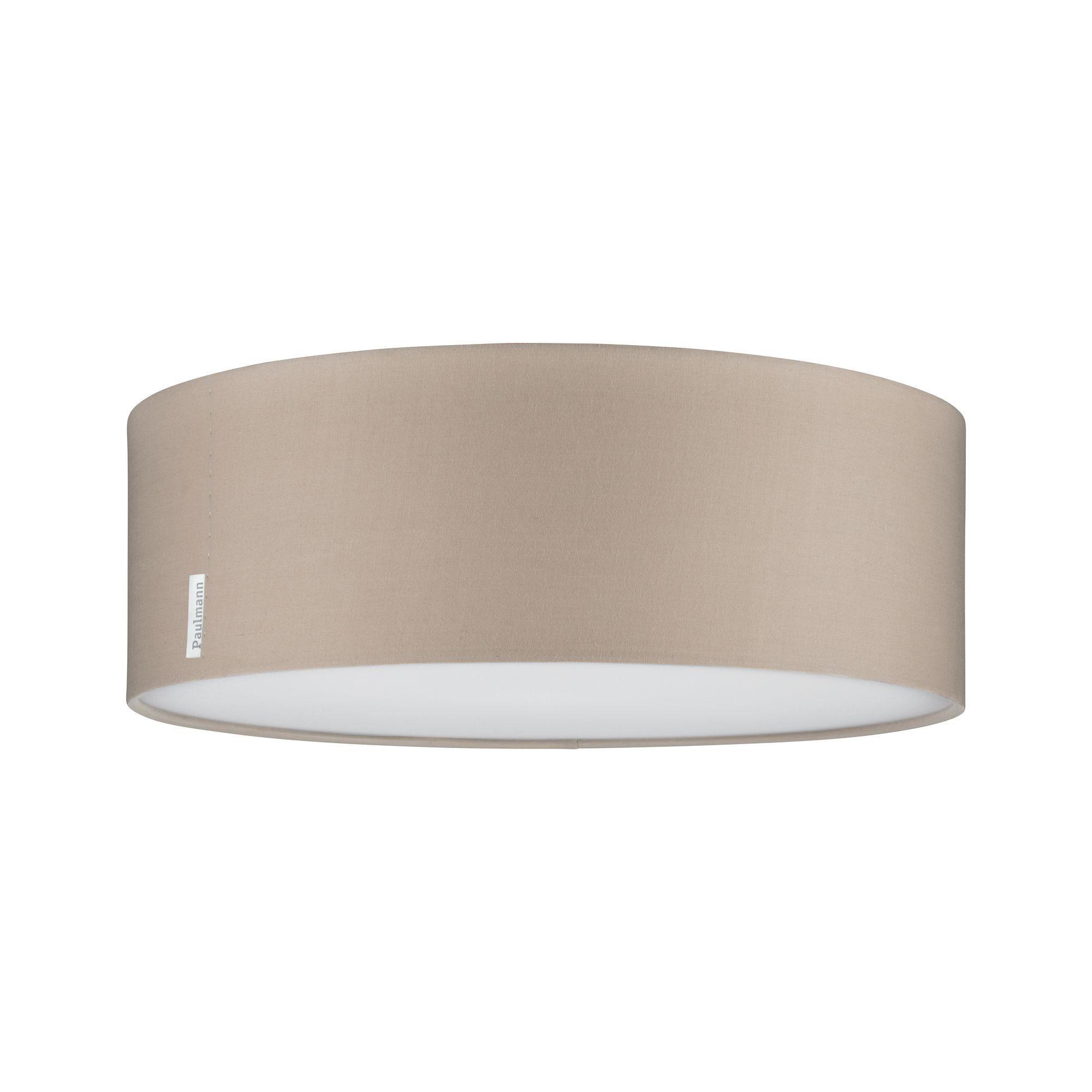 Paulmann LED Deckenleuchte Mari Beige mit Stoffschirm Durchmesser 38 cm max. 2x20W E27, E27, 1 St.