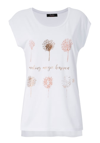 Aniston CASUAL T-Shirt, mit Frontdruck, teilweise glitzernder Folienprint kaufen