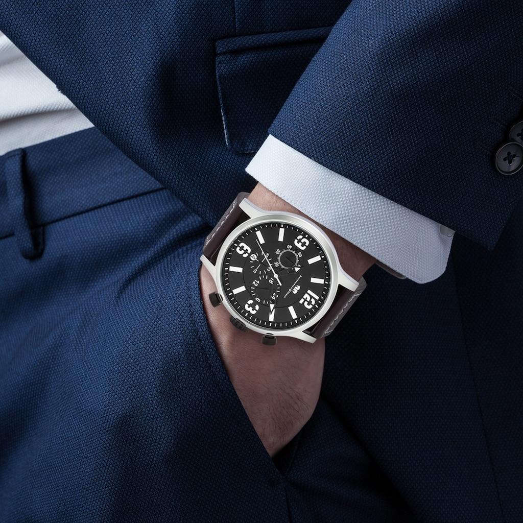 Rhodenwald & Söhne Chronograph »RWS012«, (1 tlg.), Armband aus Echtleder