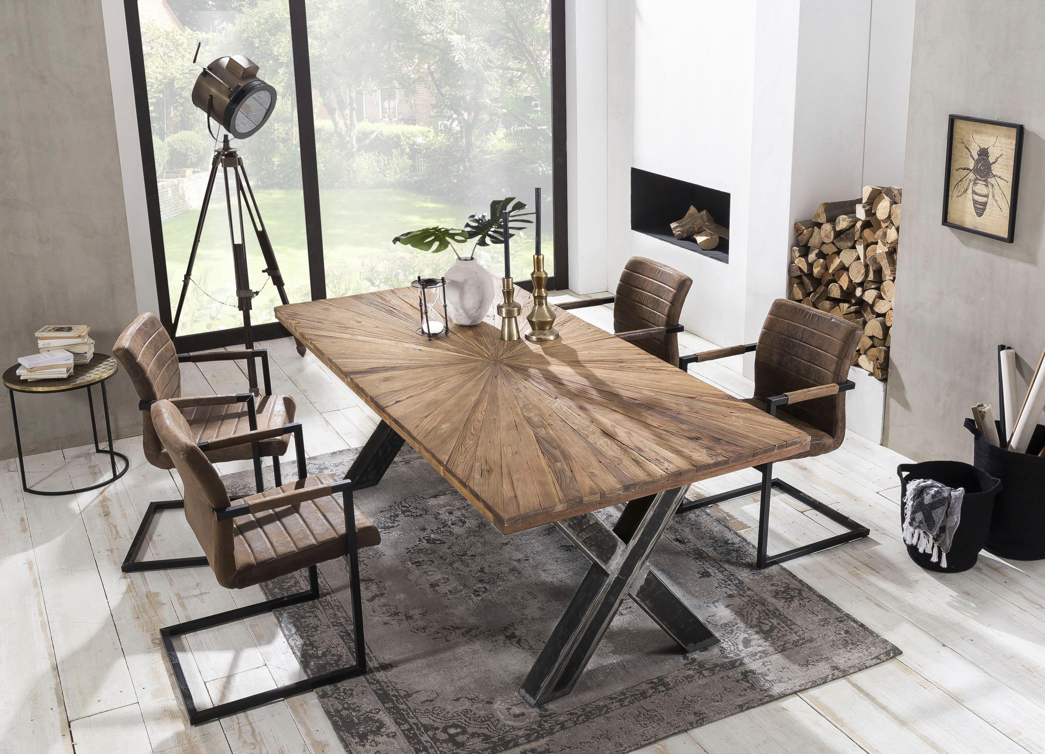 SIT Esstisch Romanteaka mit sonnenförmig gemusterter Tischplatte