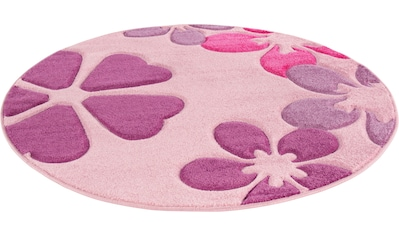 LUXOR living Kinderteppich »Flair«, rund, 15 mm Höhe, Kurzflor, Blumen Design,... kaufen