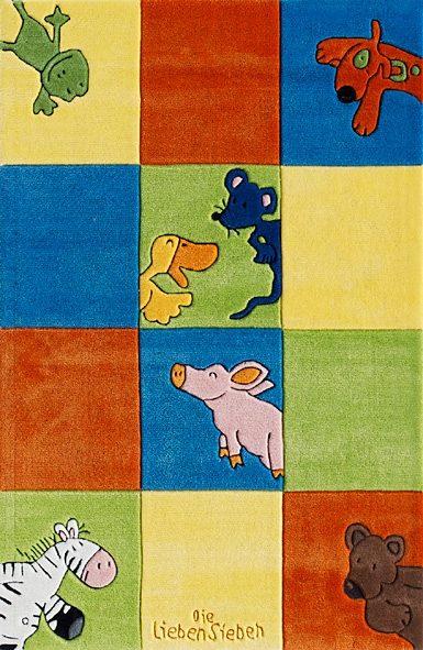 Kinderteppich LS-2197-01 Die Lieben Sieben rechteckig Höhe 10 mm handgetuftet