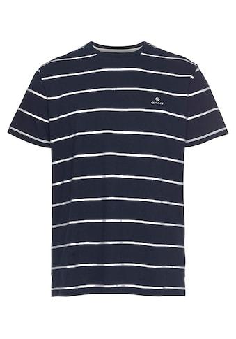Gant T-Shirt »BRETON STRIPE«, gestreift, mit gesticktem GANT-Logo kaufen