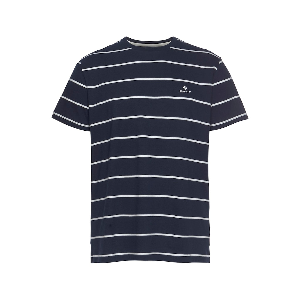 Gant T-Shirt »BRETON STRIPE«, gestreift, mit gesticktem GANT-Logo