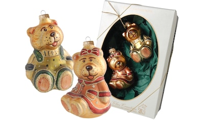 """Krebs Glas Lauscha Christbaumschmuck """"Viktorianisches Teddy - Paar"""" (2 - teilig) kaufen"""