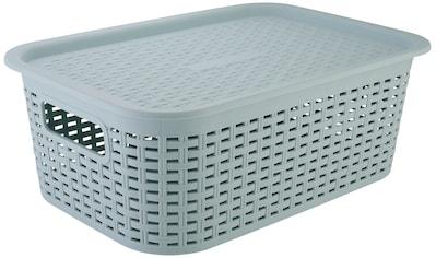 axentia Aufbewahrungskorb »Korb aus Kunststoff, klein«, mit Deckel kaufen