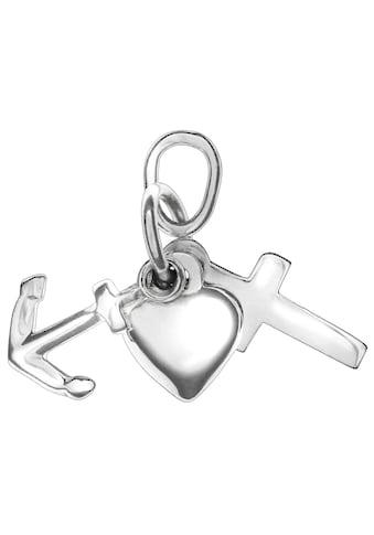 Firetti Kettenanhänger »Glaube, Liebe & Hoffnung, glanzvolles Design« kaufen