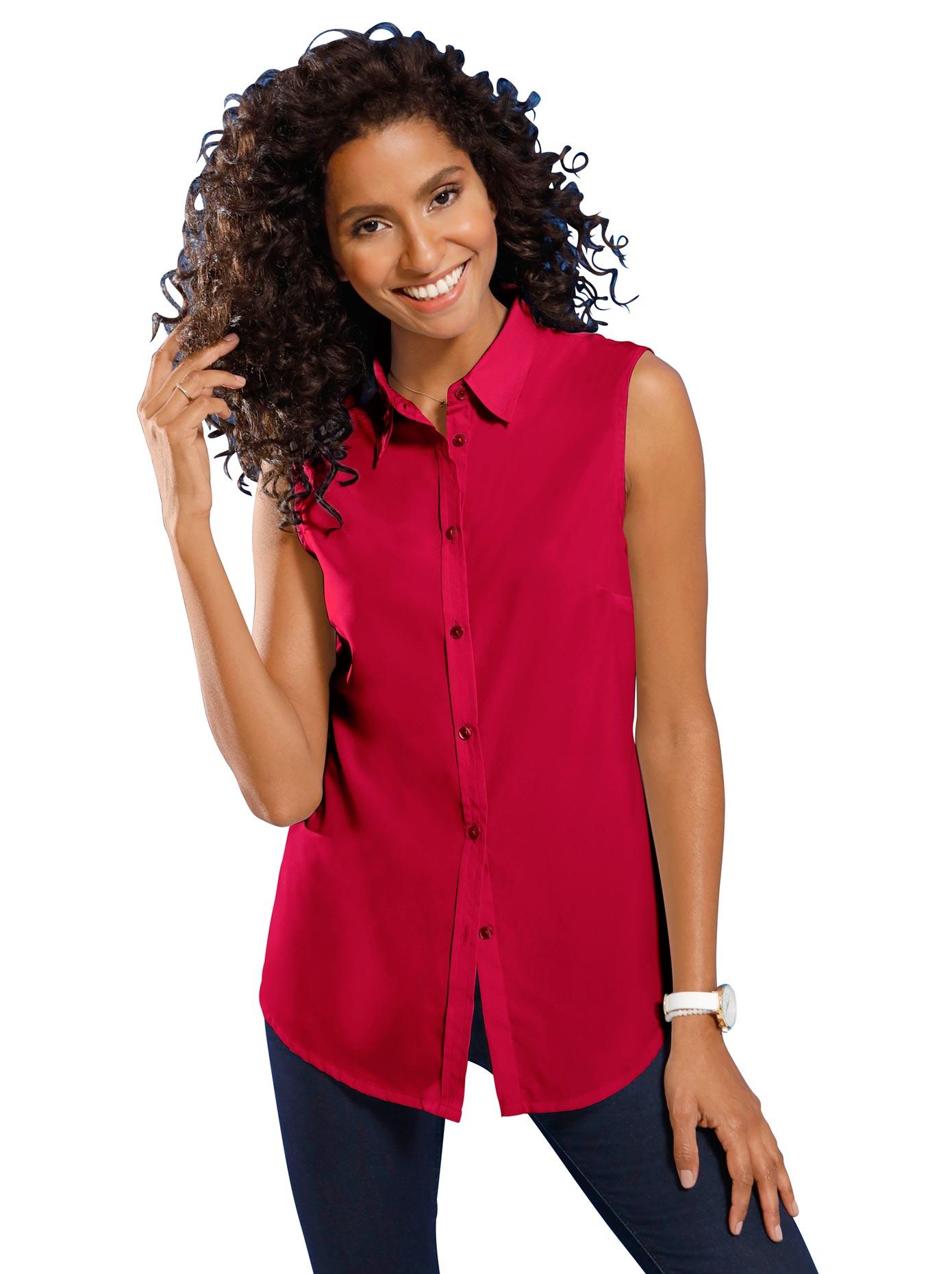 Classic Basics Bluse ohne Arm mit leicht abgerundetem Saum