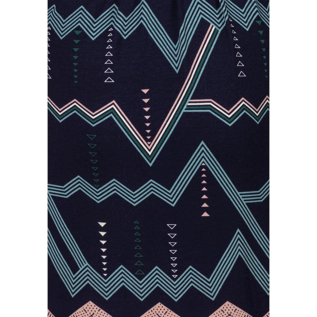 LASCANA Kimono, mit grafischem Zick-Zack Muster