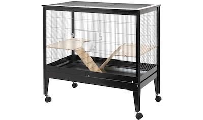 ROHRSCHNEIDER Kleintierkäfig »Palma«, B/T/H: 104/59/100 cm, schwarz kaufen