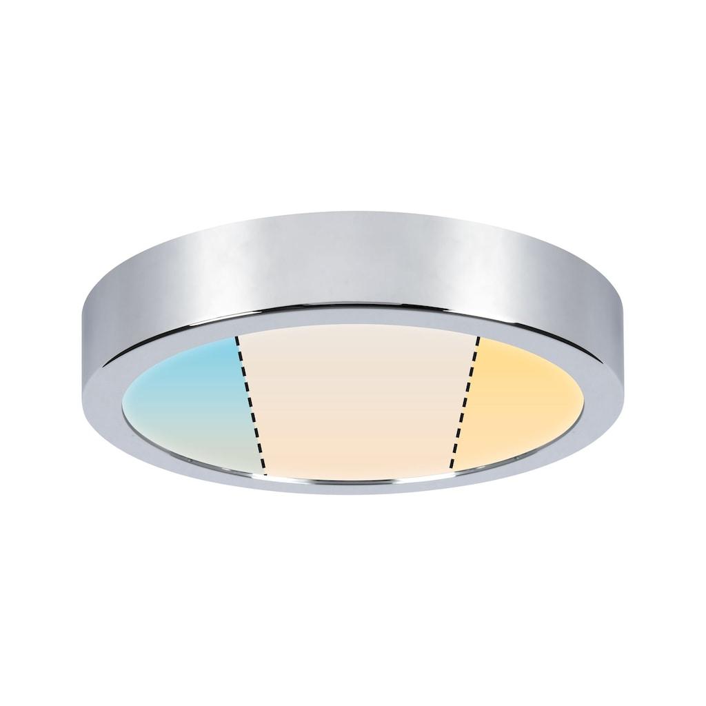 Paulmann LED Deckenleuchte »Panel Aviar rund WhiteSwitch IP44 220mm 13W 2.700K Chrom«, 1 St., Tageslichtweiß