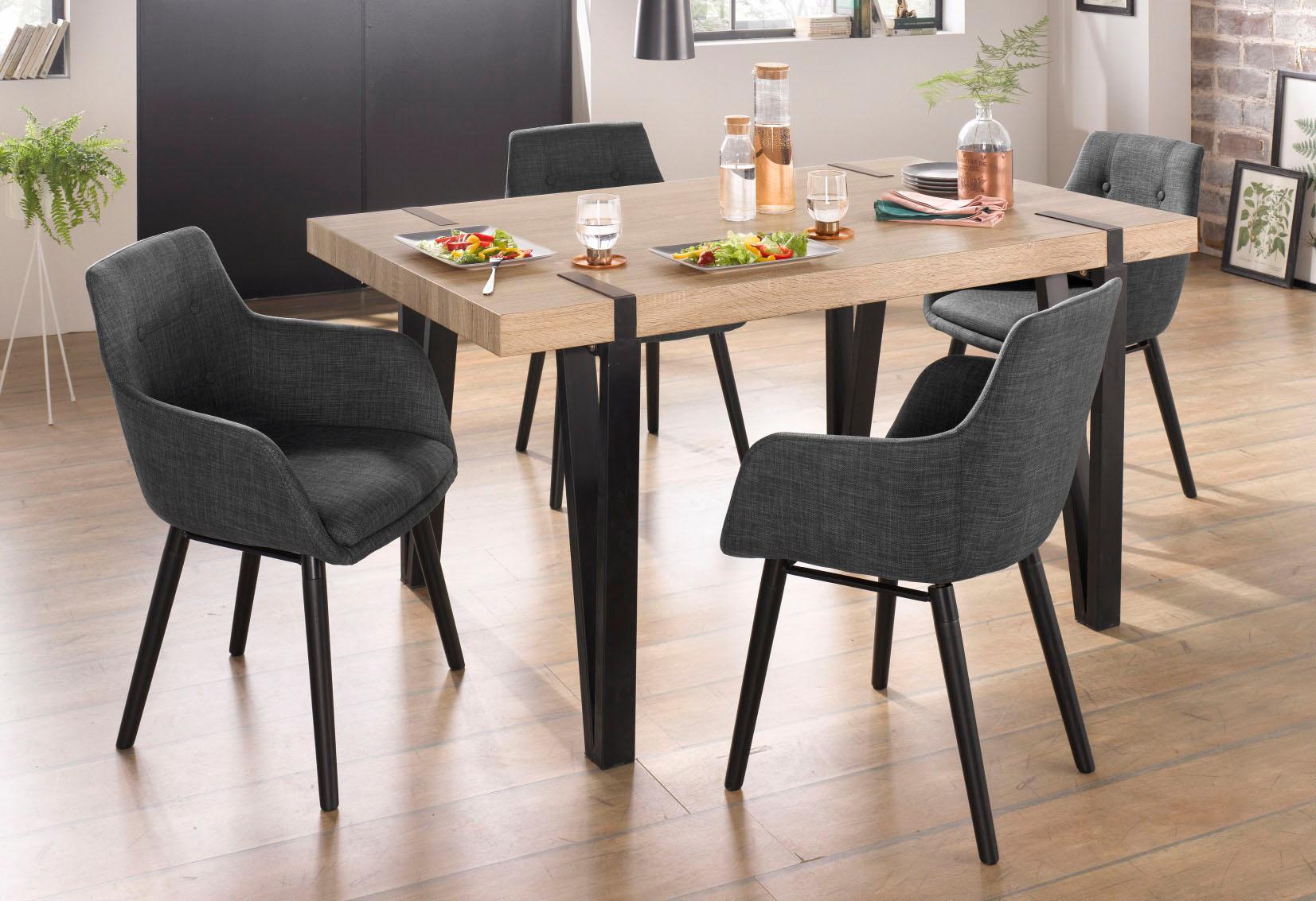 Essgruppe Sanchez und Bradford 5-teilig mit Tisch Breite 150 cm