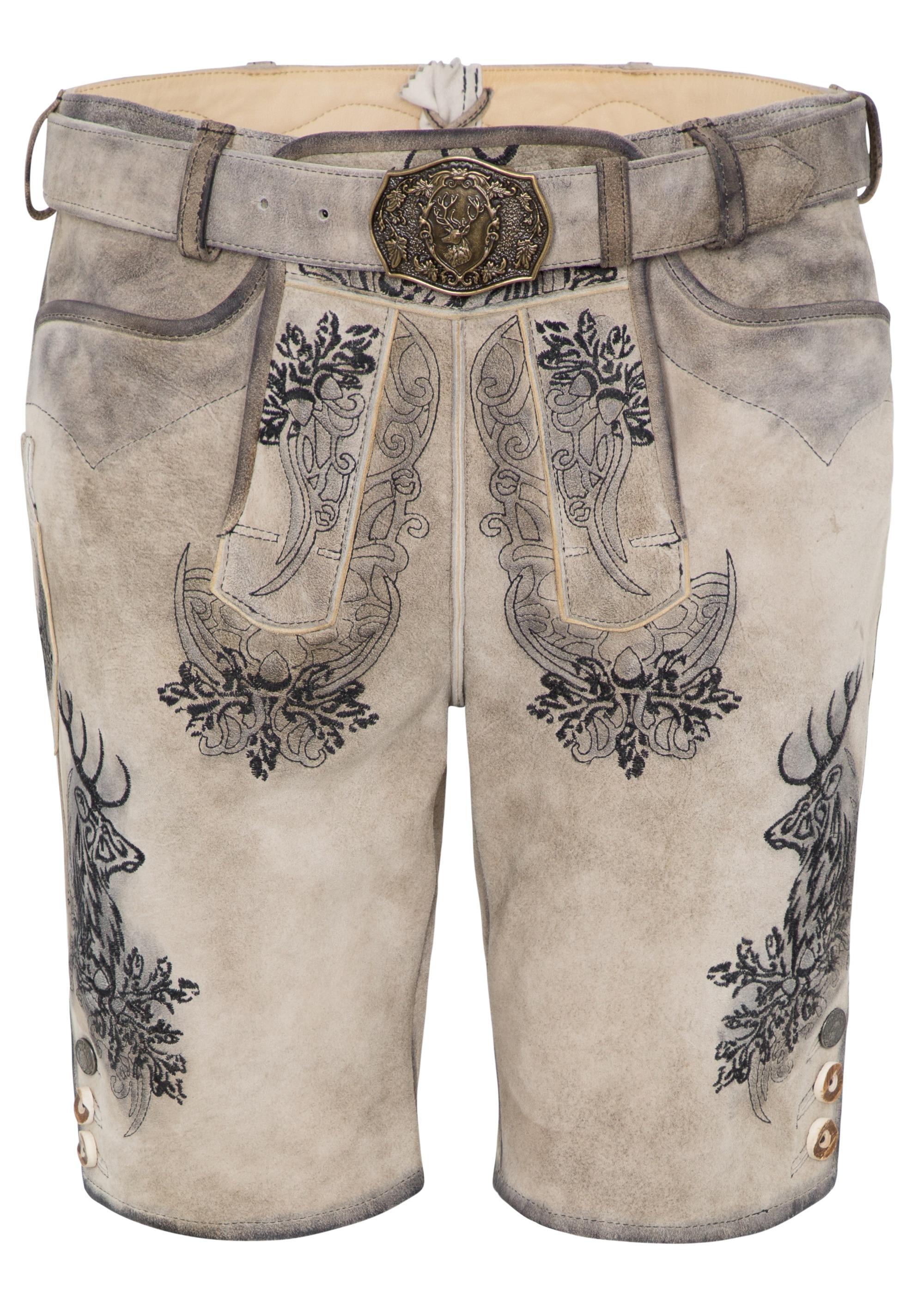 Spieth & Wensky Lederhose Elvis kurz 45 cm | Bekleidung > Hosen > Lederhosen | Leder | Spieth & Wensky