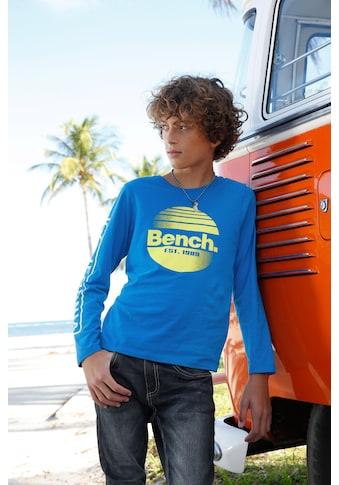 Bench. Langarmshirt »mit tollem Logodruck« kaufen