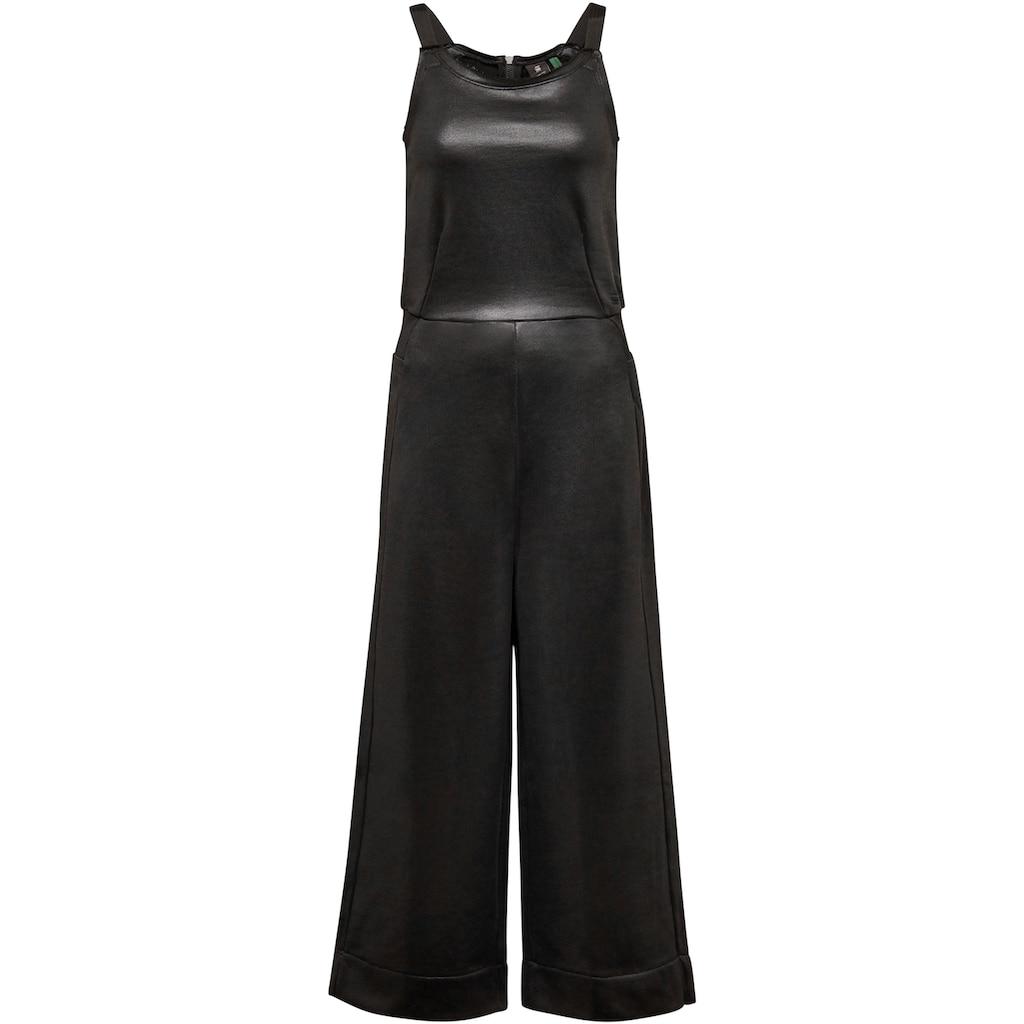 G-Star RAW Jumpsuit »Glossy Sweat Jumpsuit«, mit glänzender Optik