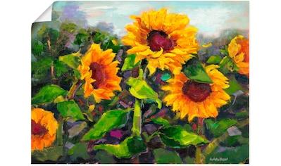 Artland Wandbild »Das Erwachen der Sonnenblumen IV« kaufen