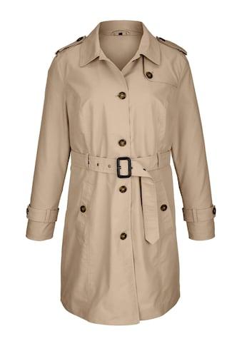 MIAMODA Trenchcoat in der Taille mit Gürtel und Schnalle zum Schließen kaufen