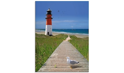 Artland Glasbild »Der Weg zum Meer«, Gebäude, (1 St.) kaufen