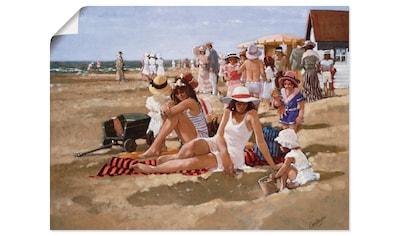 Artland Wandbild »Junge Frauen mit Kindern am Strand« kaufen