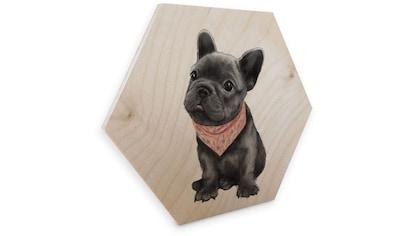 Wall-Art Holzbild »Französische Bulldogge Holzbild«, (1 St.) kaufen