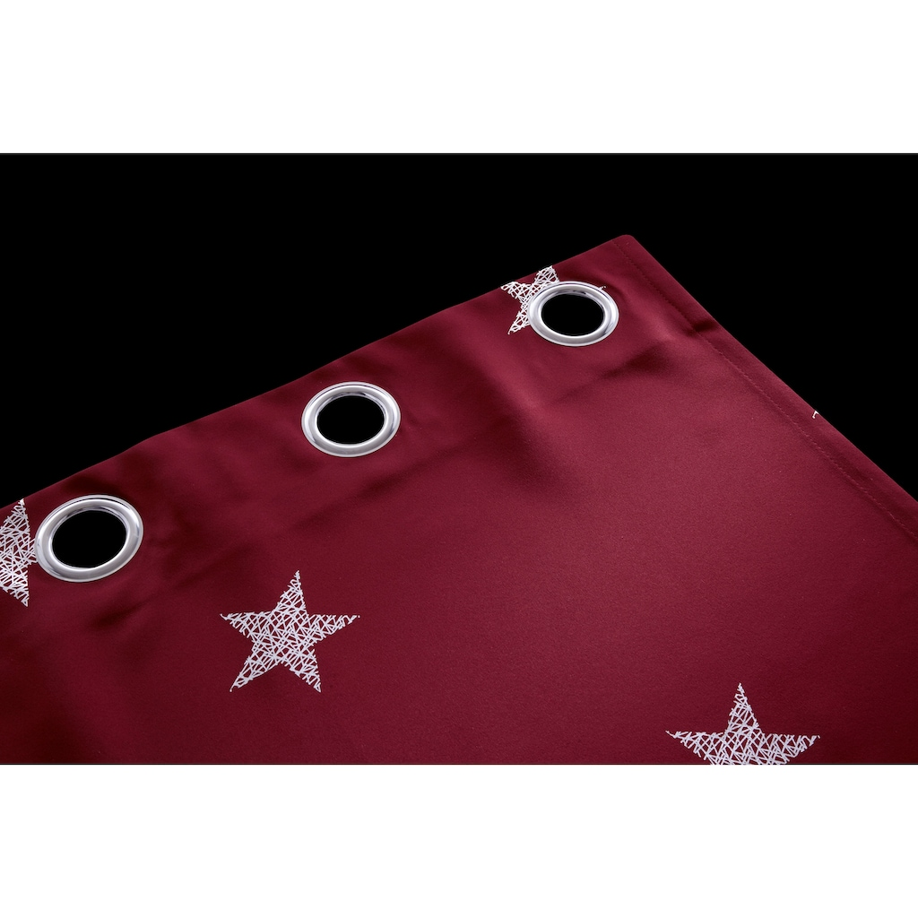my home Gardine »Blackout Curtain With Foil Print Star«