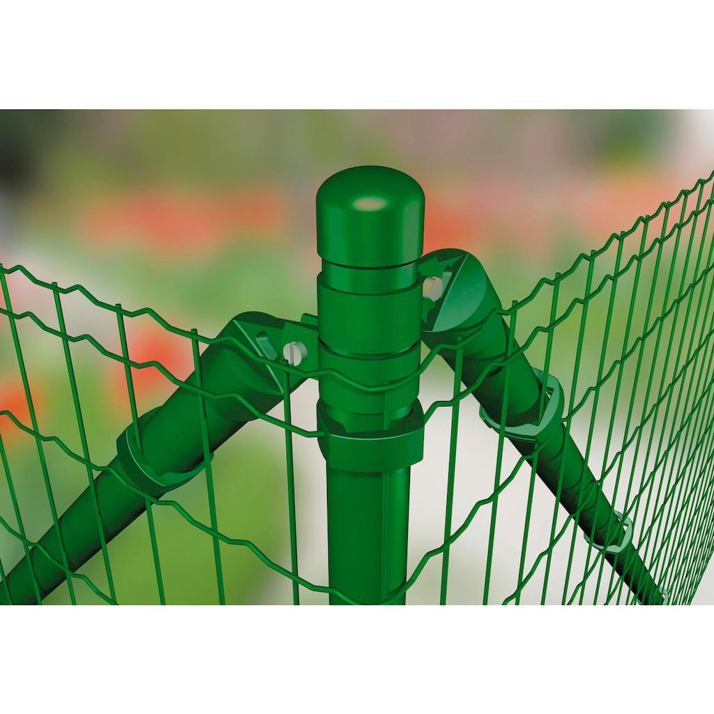 GAH Alberts Schweissgitter »Fix-Clip Pro®«, 81 cm hoch, 25 m, grün beschichtet, mit Bodenhülsen