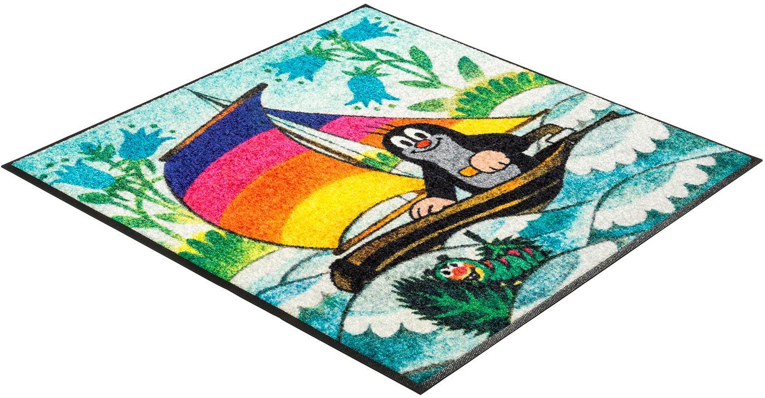 Kinderteppich Maulwurf segelt wash+dry by Kleen-Tex quadratisch Höhe 7 mm gedruckt