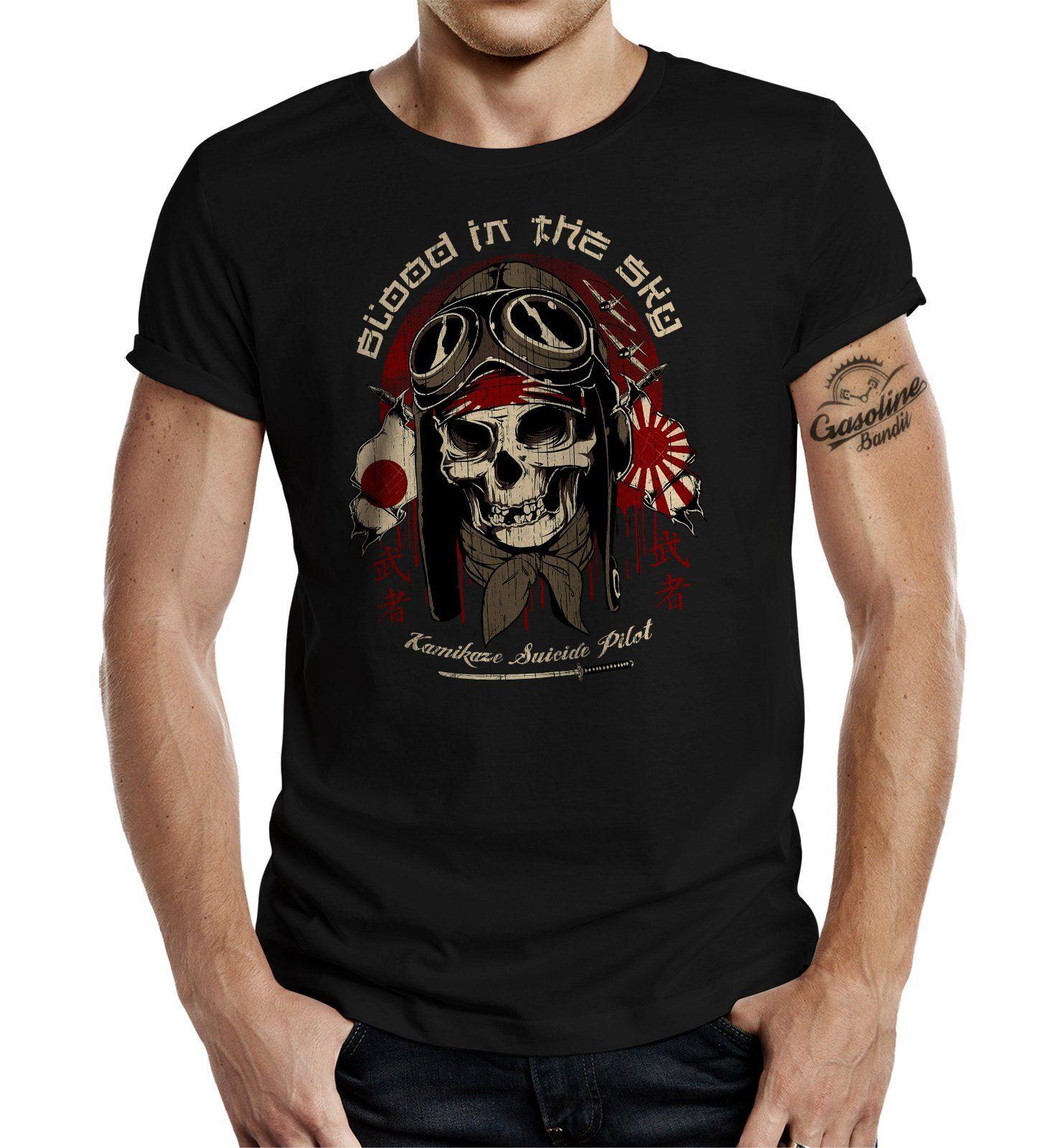 GASOLINE BANDIT T-Shirt mit provokantem Aufdruck schwarz Herren Shirts T-Shirts (kurzarm) 4052743931390