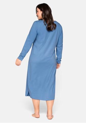 Sheego Nachthemd, mit Frontdruck, in wadenlanger Form kaufen