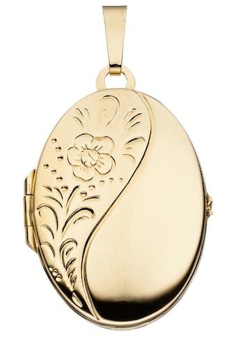 JOBO Medallionanhänger »Medaillon«, oval 925 Silber vergoldet kaufen