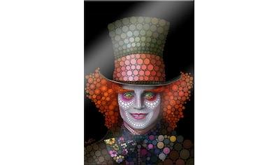 Wall-Art Acrylglasbild »Circlism: Johnny Depp der Hutmacher« kaufen
