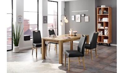 Home affaire Essgruppe »Nils 9«, (Set, 5 tlg., Tisch 180/90 cm, 4 Polster-Stühle), aus Massivholz kaufen