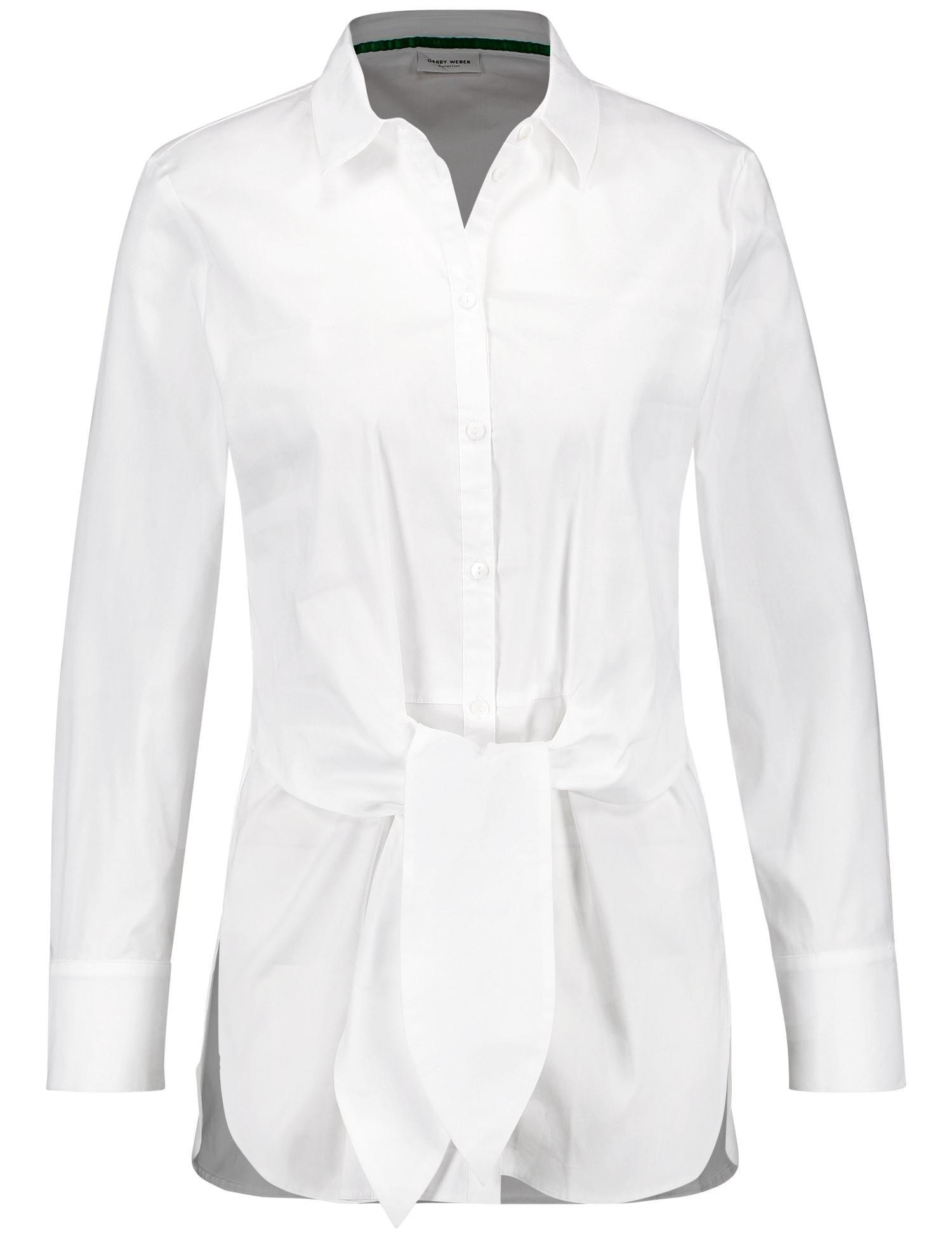 GERRY WEBER Bluse 1/1 Arm »Bluse mit breitem Bindeband«