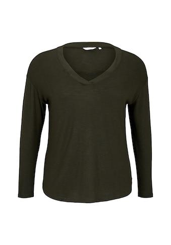 TOM TAILOR MY TRUE ME Langarmshirt »Langarmshirt mit V - Ausschnitt« kaufen