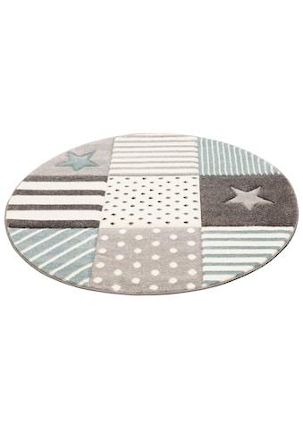 Kinderteppich, »Stern«, Lüttenhütt, rund, Höhe 13 mm, maschinell gewebt kaufen