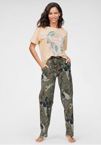 Triumph Pyjama, mit tropischen Blätterprint kaufen