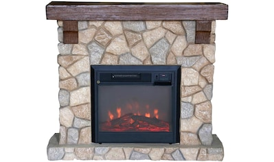 El Fuego Elektrokamin »Villach«, grau, mit Fernbedienung kaufen