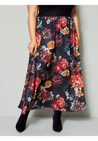 Sara Lindholm by HAPPYsize Maxirock, mit großen Blumen kaufen