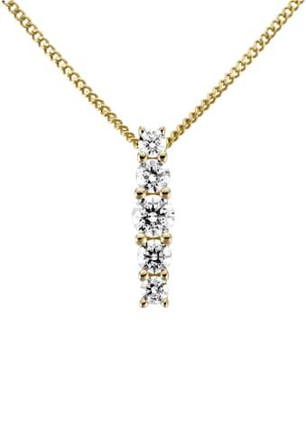 Firetti Kettenanhänger »Länglich, glanz, massiv«, mit Zirkonia kaufen