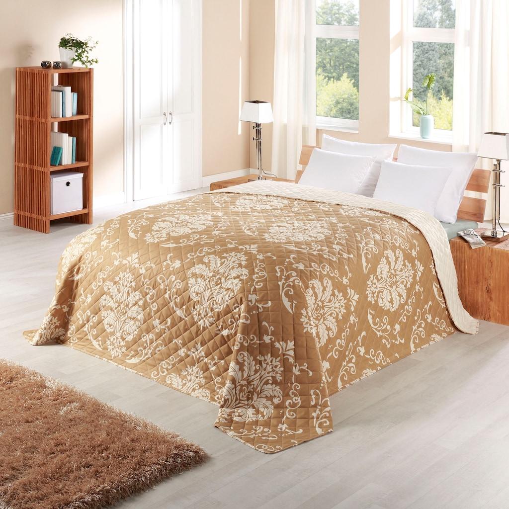 Delindo Lifestyle Bettüberwurf »Ornamente«, weich wattiert und aufwändig gesteppt
