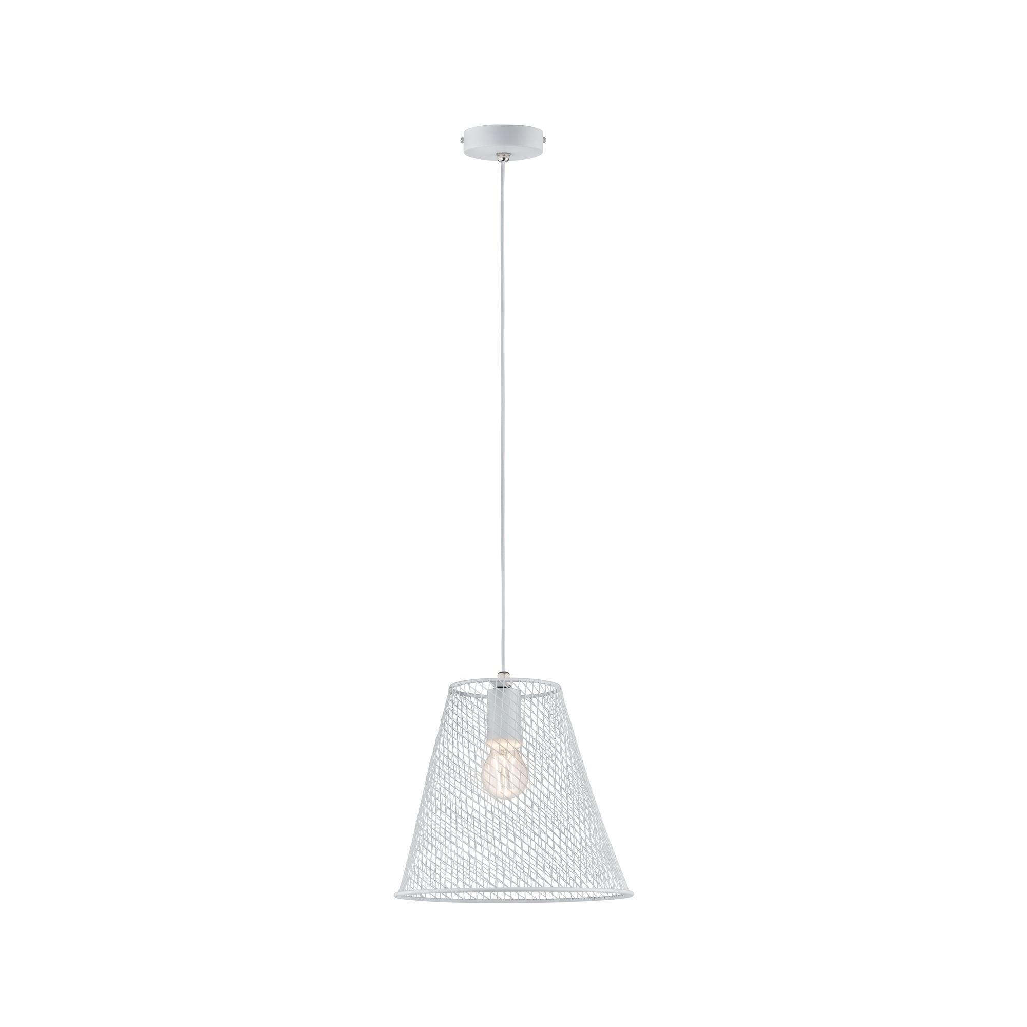 Paulmann,LED Pendelleuchte Calma Weiß Weiß max. 20W E27
