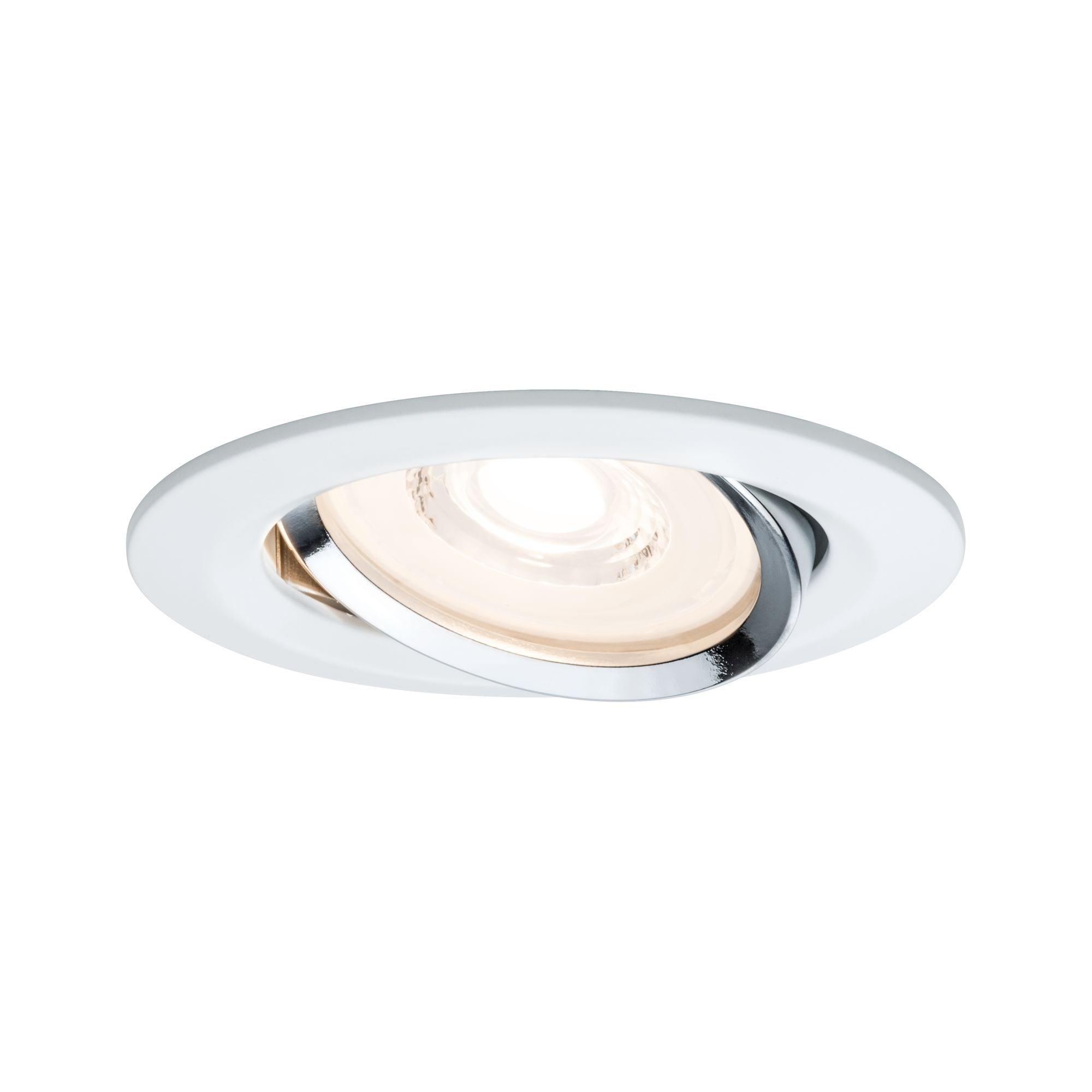 Paulmann,LED Einbaustrahler 1er-Set dimmbar schwenkbar Reflector Coin 6,8W Weiß